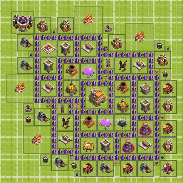 Best Coc Base Town Hall 7  Formation Base Clash of Clans Town Hall 1